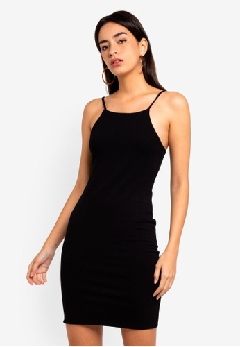 Supre black High Neck Strappy Mini Dress 8271FAADFA05F4GS_1