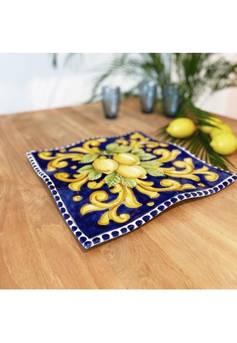 Living DNA Lemon Ceramic Handkerchief Platter Blue 66197HL832BD78GS_1