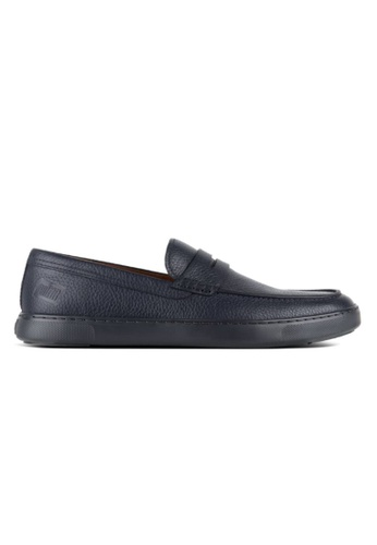 FitFlop navy Fitflop Men Boston Leather Loafers SuperNavy 1B819SH52B4DCCGS_1