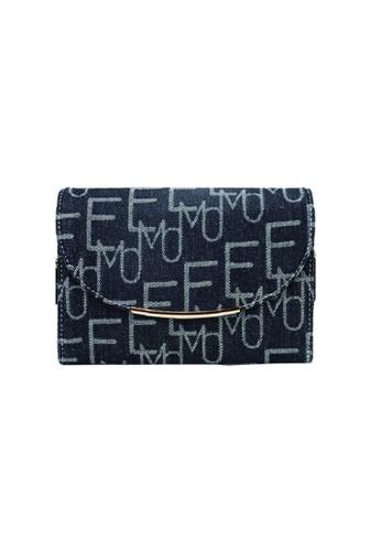 EMO navy Korean fashion Brand‧Handheld‧Shoulder‧Denim Smiling face Bag - Dark Blue 35B6AAC0DD2A09GS_1