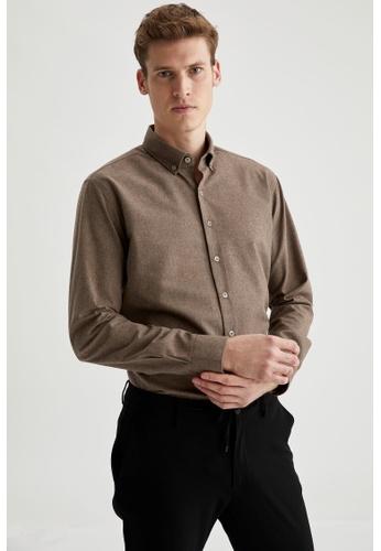 DeFacto beige Long Sleeve Shirt F4CB7AA1A6E2B4GS_1