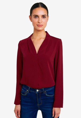 FORCAST red Lilian Long Sleeve Blouse 90033AA442C61CGS_1