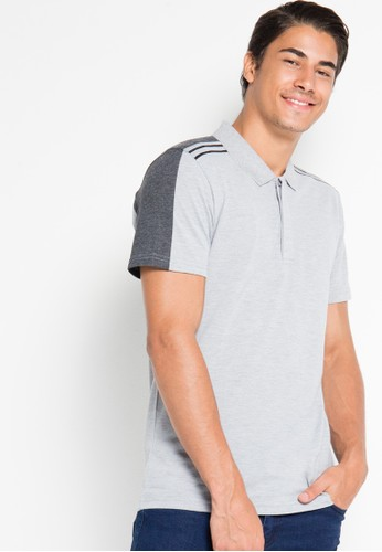 Sporty Color Block Polo Shirt