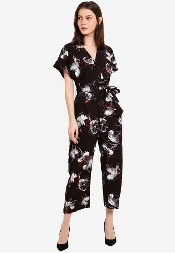 CLOSET black Closet Wrap Over Tie Front Jumpsuit 275B1AA96B0B9BGS_1