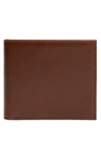 MANGO Man brown Faux-Leather Wallet EFDFAACF9D14CAGS_1