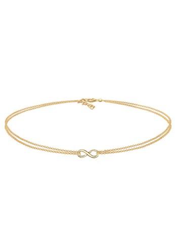 Elli Germany gold Perhiasan Wanita Perak Asli - Silver Kalung Choker Infinity Lapis Emas A88DAAC41A02EDGS_1