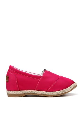 KissXXX 粉紅色 特殊防潑水純色美腿效果5CM內增高帆布休閒鞋 KI603SH09OFHTW_1