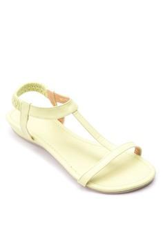 T-strap Wedge Sandals