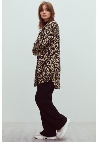 H&M beige Long blouse 44C54AABC9BDBEGS_1
