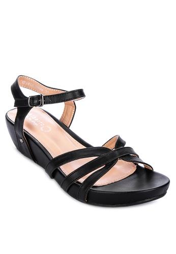 Alberto black Strappy wedge sandals 9B2F9SH3B5286CGS_1