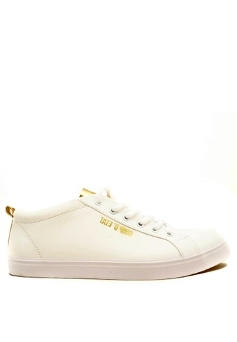 CDE white CDE Percival Men Sneaker White/Gold ECE6BSH401285FGS_1
