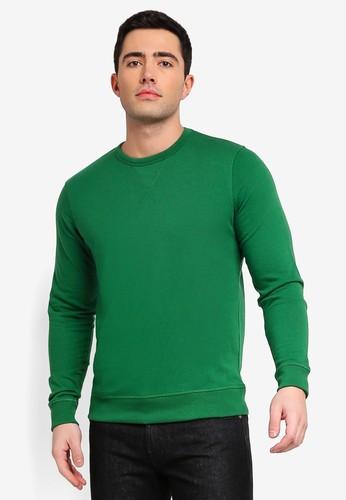 OVS green Round Neck Sweatshirt E5332AA4EE0E1AGS_1