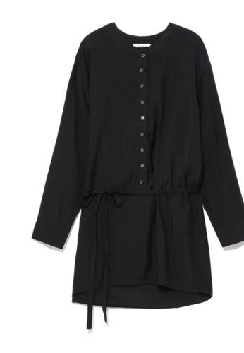 b+ab black Self-tie shirt 46BF6AADB38E64GS_1