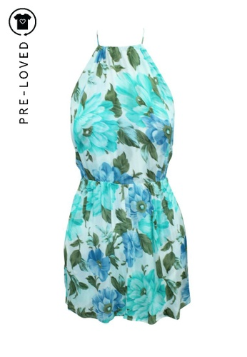 Reformation multi Pre-Loved reformation Blue and Turquoise Floral Print Mini Bare Back Dress AC4DBAA31AAE04GS_1
