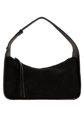 Mango black Leather Baguette Bag B172AACB5654ACGS_1