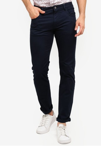 MANGO Man blue and navy Slim-Fit Chinos Trousers 9ADE3AABA2D9A5GS_1
