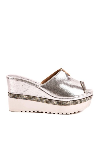 Clarette silver Clarette Wedges Rosie Silver CL076SH76QIXID_1