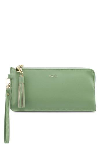 Mel&Co green Faux Leather Clutch Wristlet 8C506ACEBC14A4GS_1