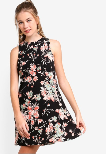 58a7bf46d333 Buy Something Borrowed Printed Swing Dress Online on ZALORA Singapore