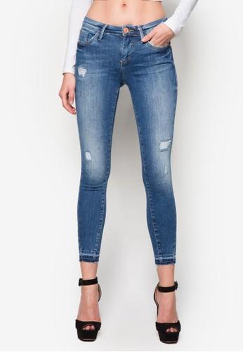 Amelie 窄zalora taiwan 時尚購物網鞋子管牛仔長褲, 服飾, 服飾