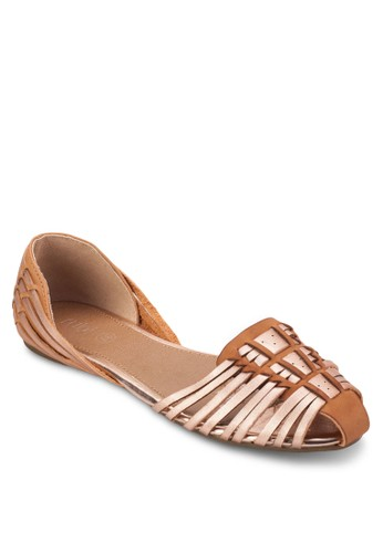 Hola esprit門市Huarache 多帶交織平底鞋, 女鞋, 鞋