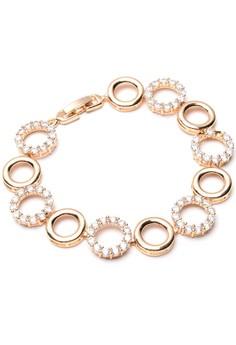 Anne Circle 18k Plated Cubic Zircon Bracelet