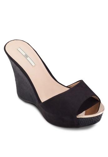esprit 香港 outlet動物紋印花楔型涼鞋, 女鞋, 鞋