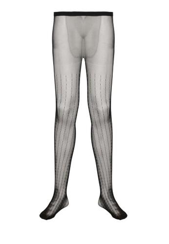 印zalora 包包 ptt花條紋微透褲襪, 服飾, 襪子