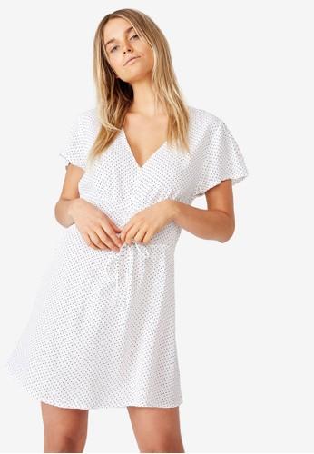Cotton on white Woven Marissa Gathered Front Mini Dress F3505AA0991F41GS_1