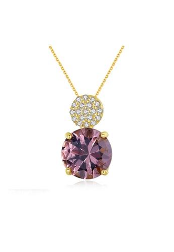 SUNRAIS gold Premium Silver S925 Gold Simple Design Necklace 92284AC035667CGS_1