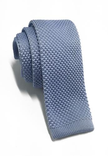 Splice Cufflinks Interlace Series Baby Blue Knitted Tie SP744AC18LPDSG_1
