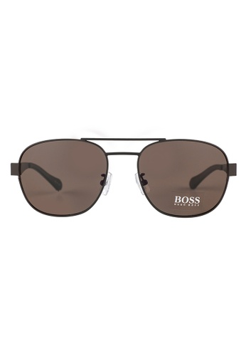 Hugo Boss brown HUGO BOSS Square Brown Sunglasses 0896FS HU898AC55OVOMY_1