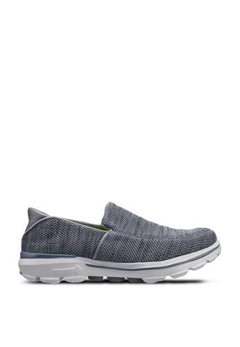 UniqTee grey Lightweight Mesh Slip-On Sport Sneakers D2844SH34E5033GS_1
