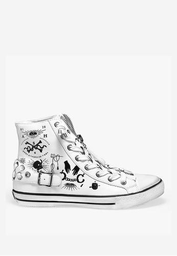 ASH white Vampire - White Print Sneakers 2488FSH414676FGS_1