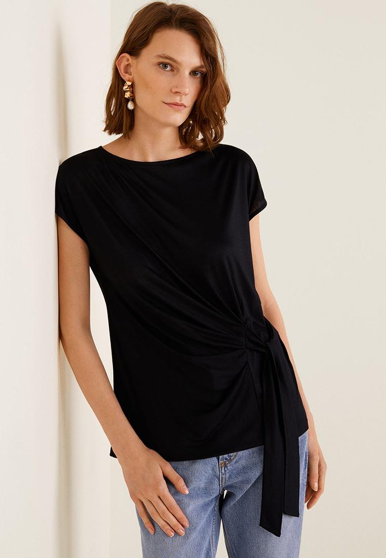 Mango Knot Detail Shirt T Black RRrqwY