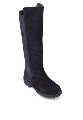 不對稱鞋口esprit 京站中筒靴, 女鞋, 靴子