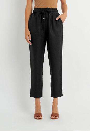 FORCAST black FORCAST Thalia Linen Pants 12796AA70C81CAGS_1