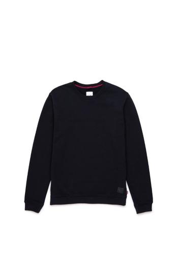 Herschel black Herschel Men Crewneck Sweatshirt Black 4DE14AA0FB0525GS_1