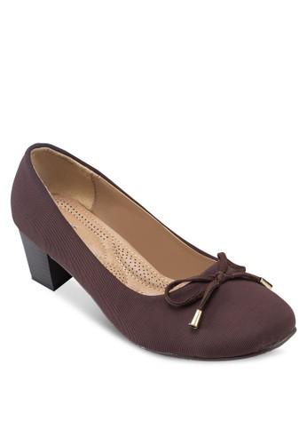 Covet 方頭粗跟蝴蝶結中跟鞋,esprit tw 女鞋, 厚底高跟鞋