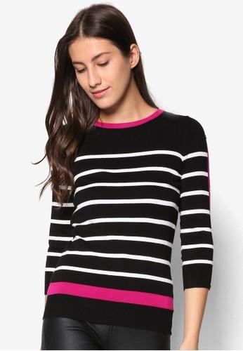 Petite 撞色滾邊條紋長袖衫、 服飾、 服飾WallisPetite撞色滾邊條紋長袖衫最新折價