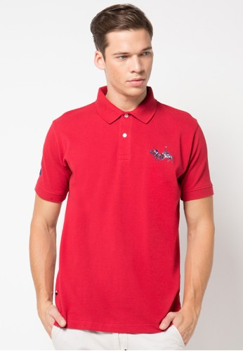 Polo Shirt With Multi-Colored Horsemen Embroidery
