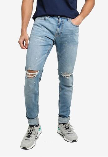 Hollister blue Superskinny Destroy Jeans 9891CAA5FA1C89GS_1