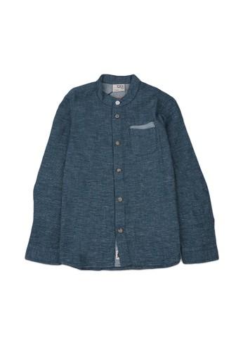 Giordano green Linen Long Sleeve Junior Shirt 74F05KAFF01349GS_1