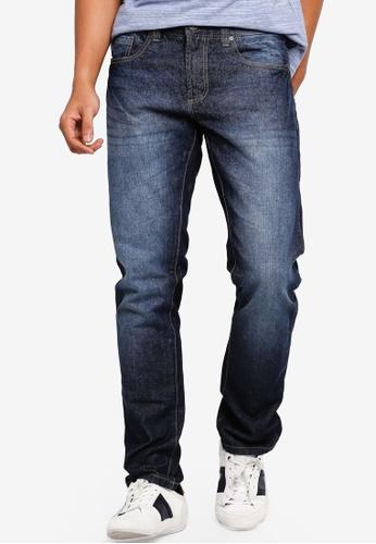 OVS 海軍藍色 直筒牛仔褲 9A0BDAA0658F3DGS_1