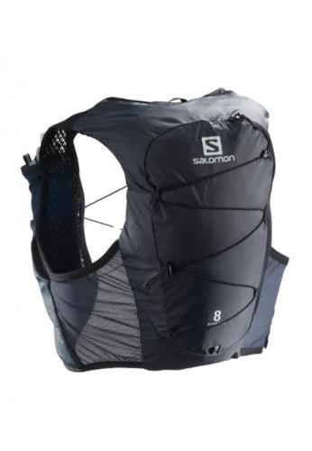 Salomon black Salomon Unisex Trail Running Active Skin 8 Set Backpack Ebony / Black - 8L FBDE4AC59E3460GS_1