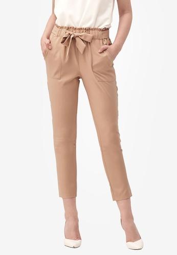 Kodz brown Tie Detail Culottes CF6DAAA5AE5DB0GS_1