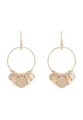 ONLY gold Grace Earrings B25D9ACD33C3CFGS_1
