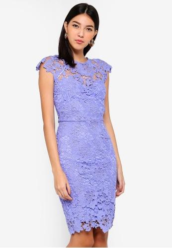 bc28e73325e9 Shop Paper Dolls Blue Crochet Dress Online on ZALORA Philippines