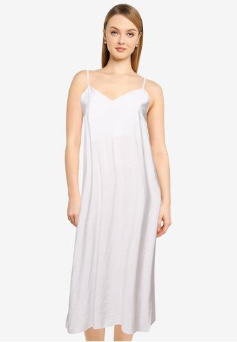 LOWRYS FARM grey Woven Maxi Dress B7BE2AABA0BA78GS_1