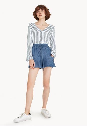 Pomelo blue Drawstring Tie Shorts - Blue D121FAAAACF12DGS_1